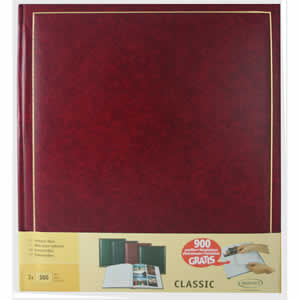 Lot de 2 albums photo classique rouge simili cuir