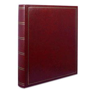Lot de 2 albums photo classique rouge simili cuir
