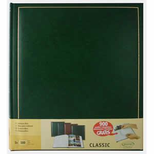 Lot de 2 albums photo classique vert simili cuir