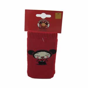 Chaussette téléphone portable Pucca rouge