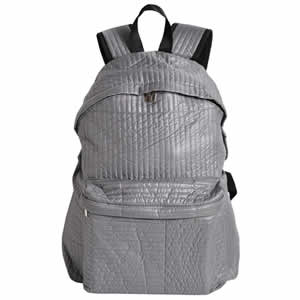 sac à dos 1 compartiment souple gris