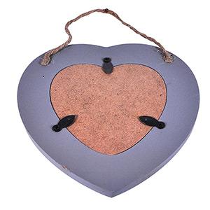 Cadre coeur 10x15 en bois gris