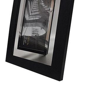 Cadre photo 10x15 transparent en métal gris