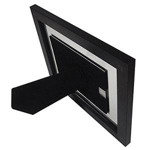 Cadre photo 13x18 transparent en bois noir