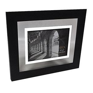 Cadre photo 13x18 transparent en métal gris