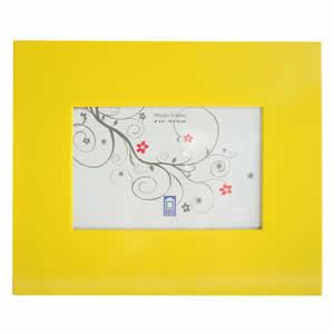 Cadre photo aluminium 10x15  jaune
