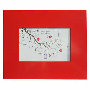 Cadre photo aluminium 10x15 rouge