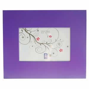 Cadre photo aluminium 10x15 violet