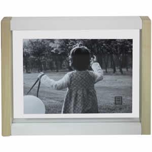 Cadre photo bois bicolore 13x18