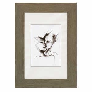 Cadre photo bois couleur gris 13x18 cm ATTIMO