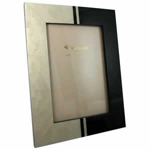 Cadre photo Dodi blanc noir 10x15cm