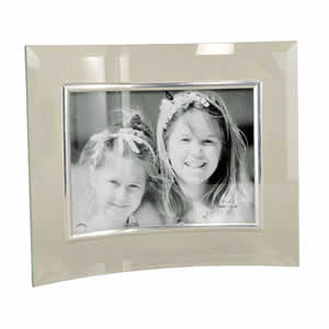 Cadre photo en verre galbé pour photo 10x15