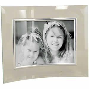 Cadre photo en verre galbé pour photo 13x18