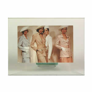 Cadre photo en verre horizontal 10x15