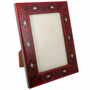 Cadre photo Marrakech rouge 10x15cm