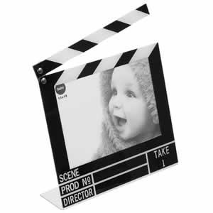 Cadre photo moderne clap cinéma 10x15