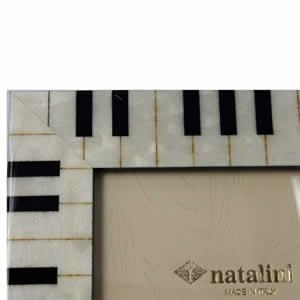 Cadre photo Piano blanc 18x24cm