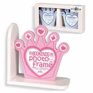 Cadre photo serre livre Prince bleu enfant fille