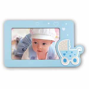 Cadre photos Dario 10x15 enfant bleu