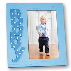 Cadre photos Marzia 10x15 enfant baby bleu