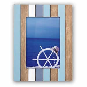 Cadre photos Mauritius 13x18 en bois bleu
