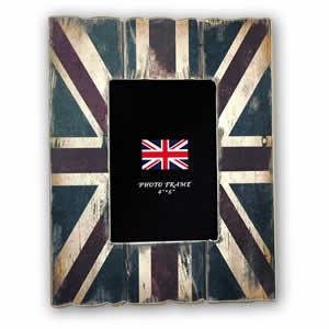 Cadre photos Union Jack Londres 13x18 en bois