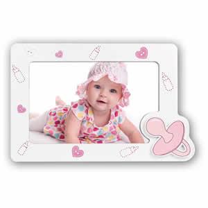 Cadre photos Vittoria 10x15 enfant rose