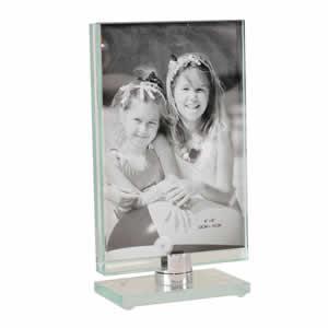 Cadre toupie en verre vertical 10x15