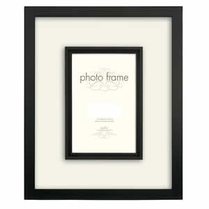 Cadre en bois noir pour photo 13x18 cm