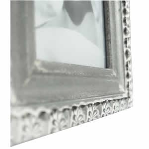 Cadre photo 10x15cm bois baroque gris