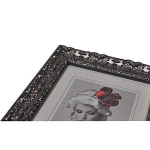 Cadre photo 13x18 bois baroque silver