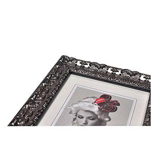 Cadre photo 20x30 bois baroque silver