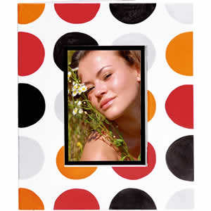 Cadre photo à pois 10x15 Esprit loft Erica