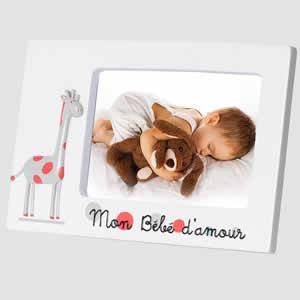 Cadre photo bébé Girafe enfant 10x15