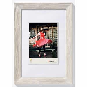 Cadre photo bois 13x18 Allegra blanc