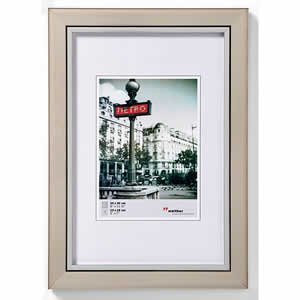 Cadre photo bois couleur acier 13x18 cm Metro