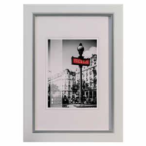 Cadre photo bois couleur blanc 10x15 cm Metro