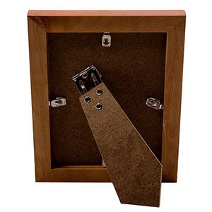 Cadre photo bois couleur marron 10x15cm NATURA