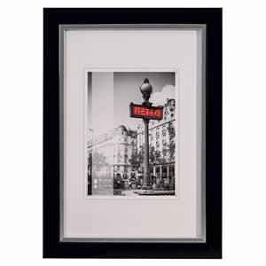 Cadre photo bois couleur noir 10x15 cm Metro