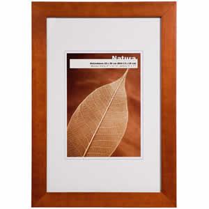 Cadre photo bois couleur noyer 18x24 cm NATURA