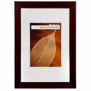 Cadre photo bois noir 15x20 cm NATURA