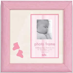 Cadre photo en bois rose photo 10x15 cm bébé
