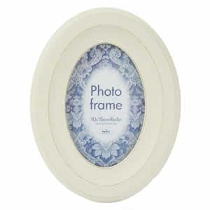 Cadre photo oval 10x15 crème