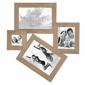 Cadre multivues 4 photos bois