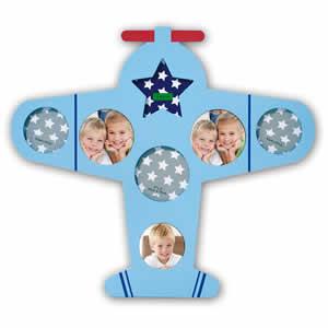 Cadre multivues avion Dante 7 photos enfant bleu