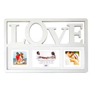 Cadre multivues Love blanc 3 photos