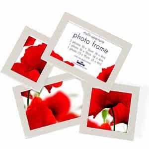 Cadre multivues photo blanc multivues 4 photos