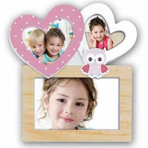 Cadre multivues VIOLA 3 photos enfant rose