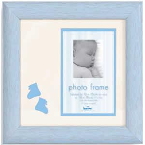 Cadre photo en bois bleu bébé 10x15 cm garçon