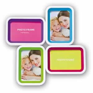 Cadre photo multivue blanc 4 photos 10x15 VALENCIA